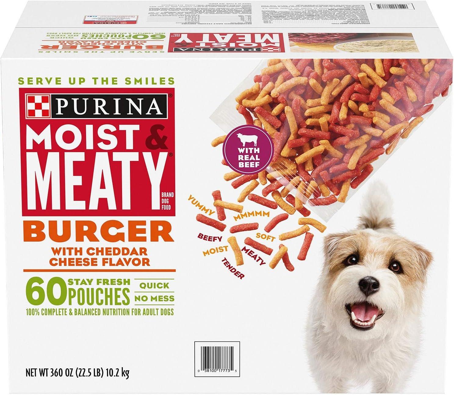 A Product of Purina Moist & Meaty Dog Food, Burger (6 oz., 60 ct.)