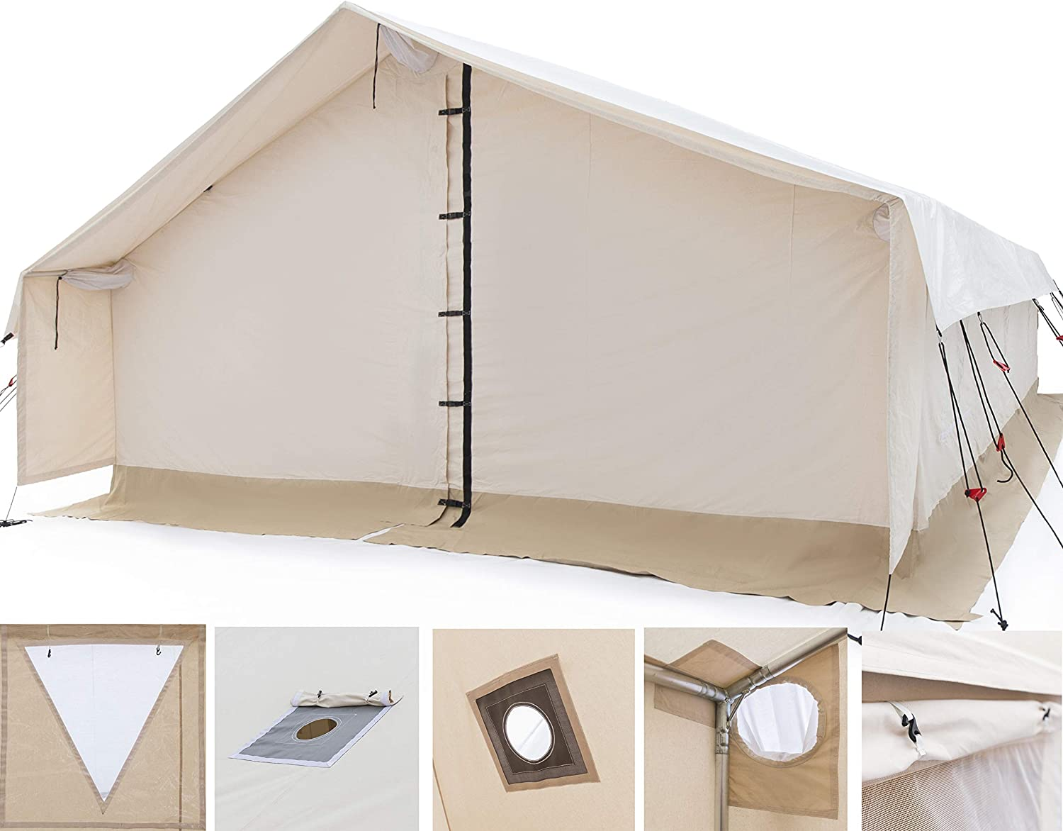 WhiteDuck Heavy Duty Canvas Tent With Stove Jack