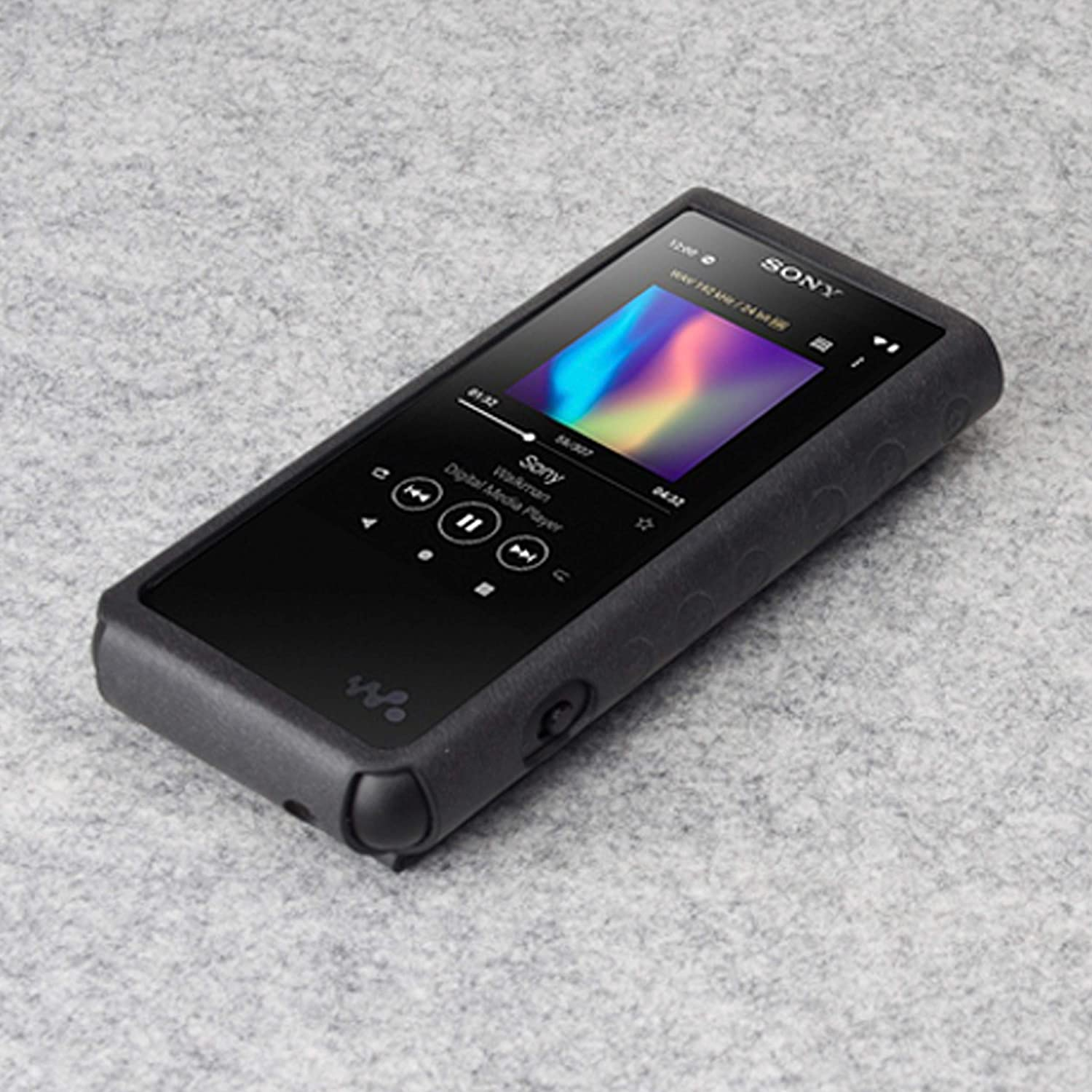 Hand Crafted Cover Black MITER CASE For Sony NW-ZX507 // ZX505 // ZX500 Patented Stand Case for Sony Walkman ZX507