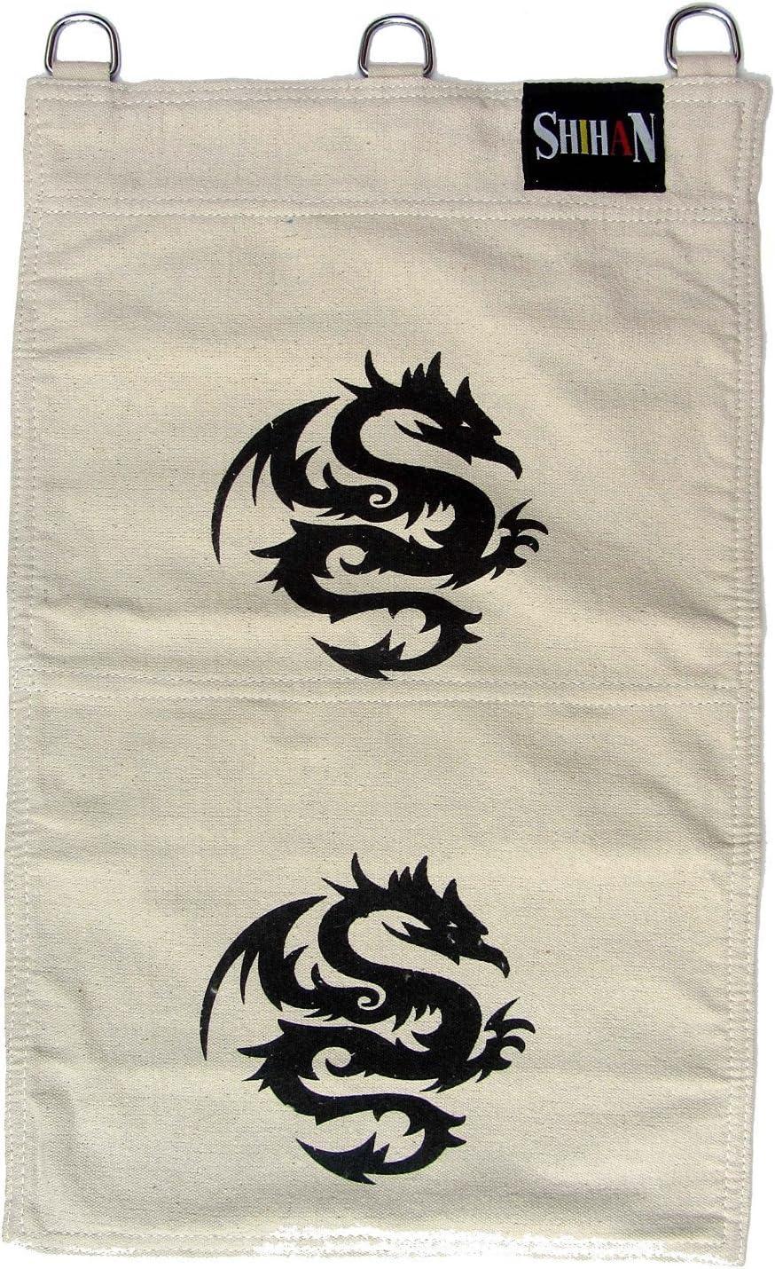 SAND BAG 2 Section HEI-DRAGON Wing Chun Canvas Wall Striking Bag Boxing Bag