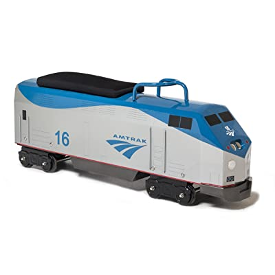 Morgan Cycle Foot to Floor Amtrak P42 Locomotive Train Engine, Blue Grey: Toys & Games