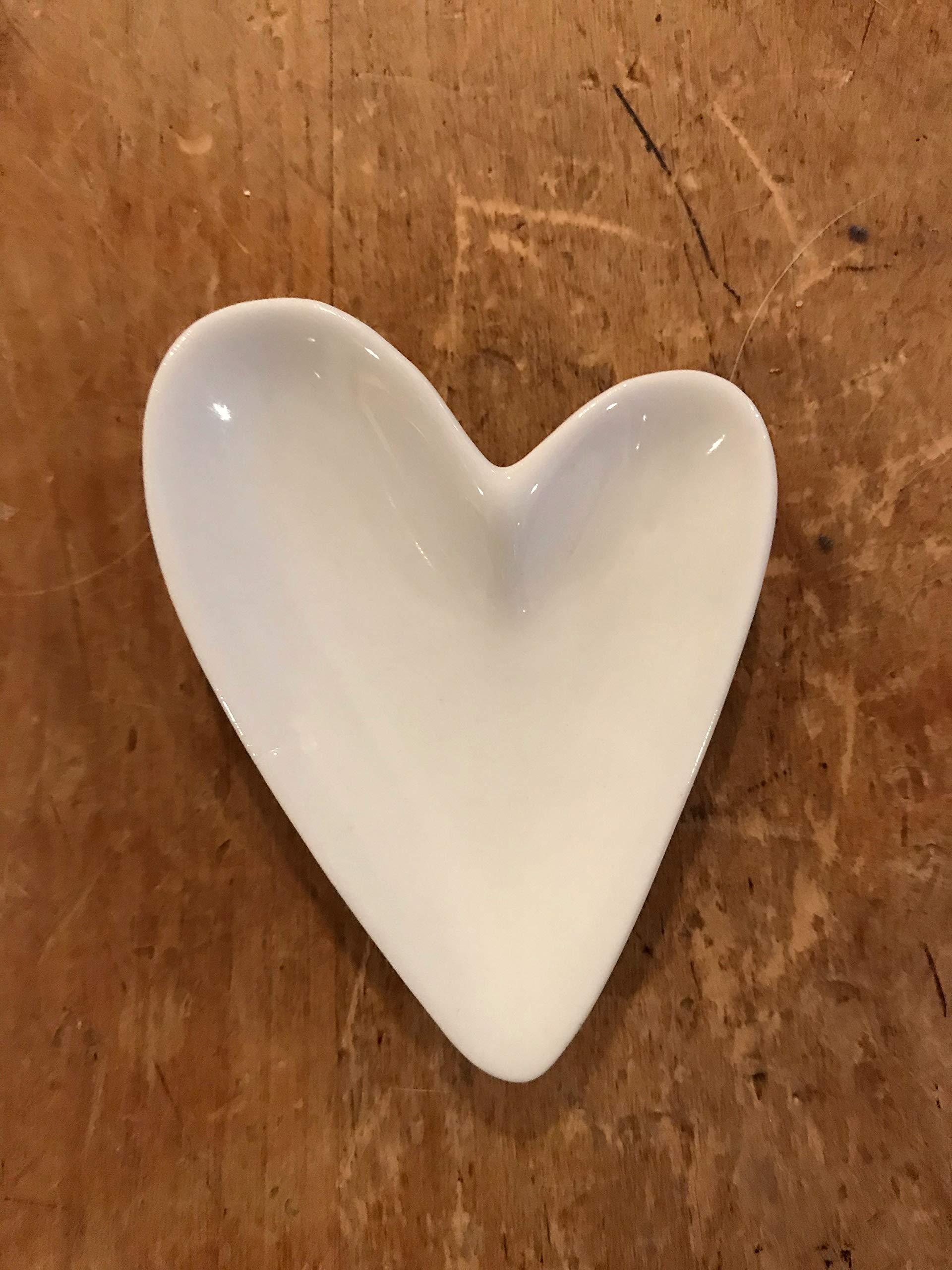 Creative Co-op DA4241 Heart Ring Dish