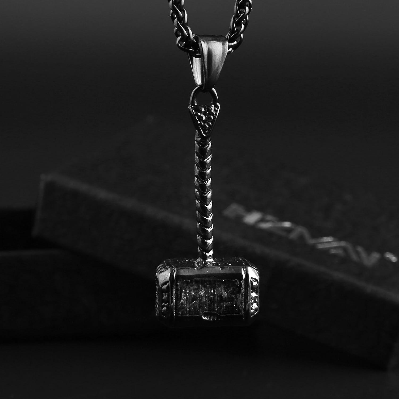 Amazon.com: HZMAN Dije para collar del Martillo de Thor ...