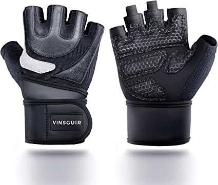 Wrist Wrap Support Gym Gloves For Weight Lifting//Sports//Training//Workout//Fitness