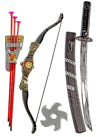 Ninja Set Samurai Assassin Kostum Katana Schwert Sebel Kinder