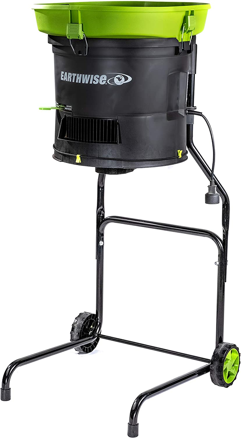 Earthwise LM71313 Amp 13-Inch Corded Electric Leaf Mulcher/Shredder, Green