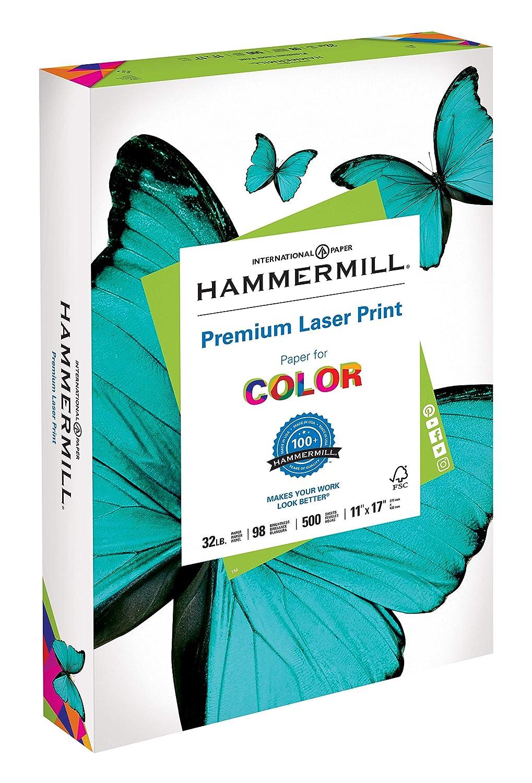 Hammermill Paper Premium Laser Print Paper 11 x 17 Paper Ledger Size 32lb Pap...