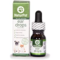 NaturPet Ear Drops | Natural Ear Infection Medicine For Dogs | Dog Ear Cleaner | Cat Ear Cleaner | Helps with Wax, Yeast, Itching & Unpleasant Odors