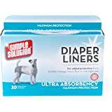 Simple Solution Disposable Dog Diaper Liners Ultra Absorbency, 10 count