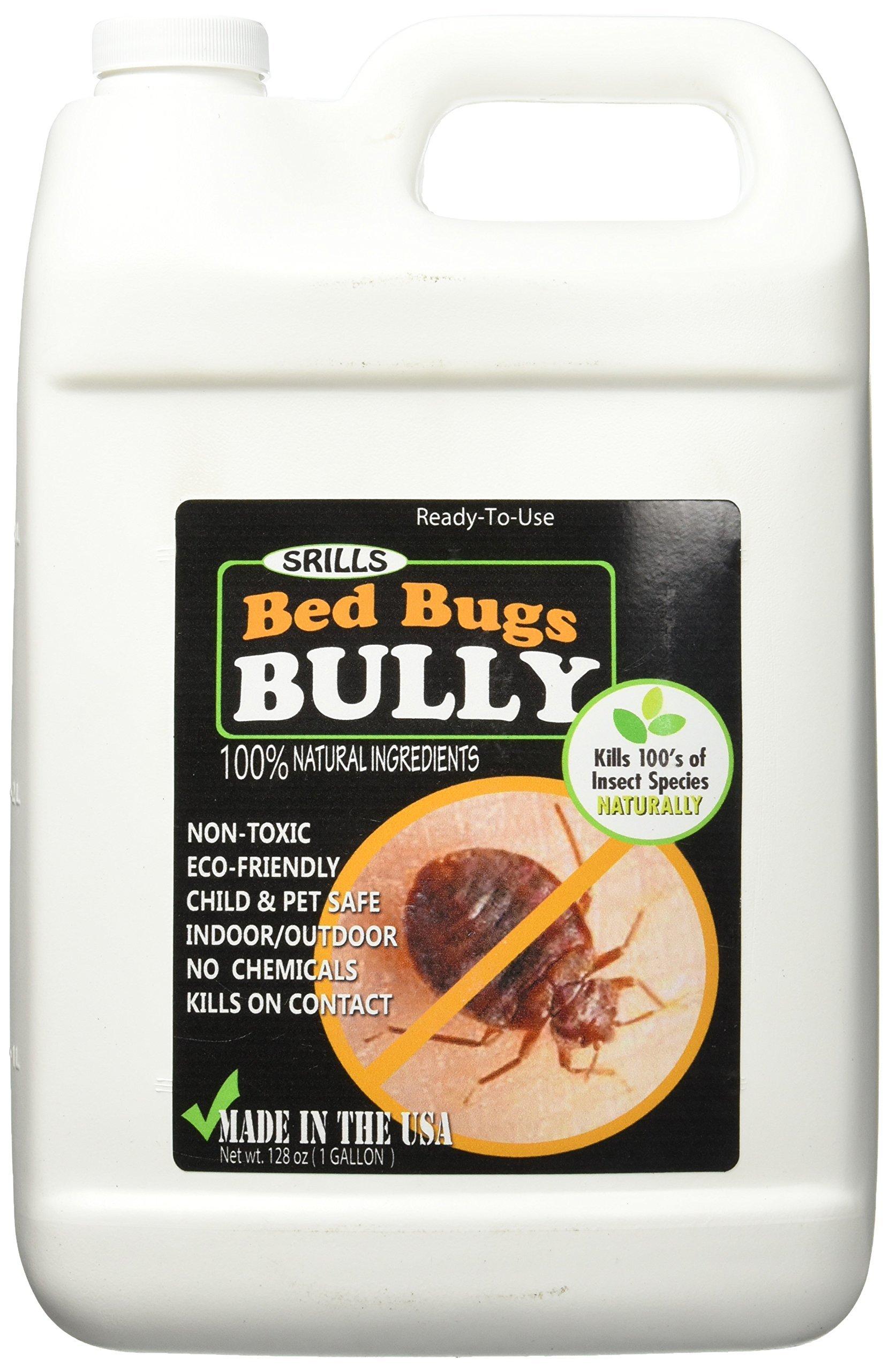 Bed Bugs Bully Non-Toxic Bed Bug Killer Spray Control Repellent All-Natural (1 Gallon)