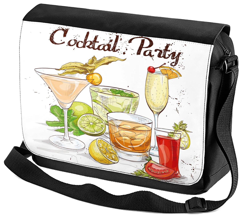 Bandoulière Nostalgique Alcool Retro Soirée cocktail imprimées