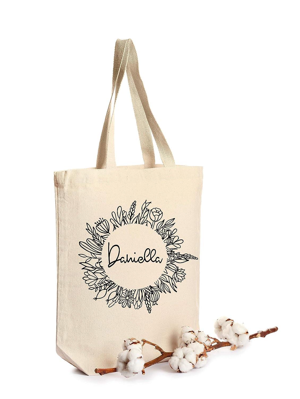 Resuable Bag Resuable Tote Monogram Canvas Tote Bag Monogram Personalize Me Personalized Canvas Bag Eco Friendly