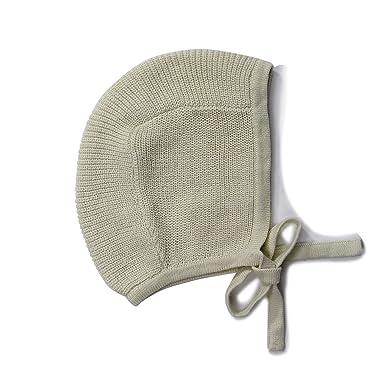 960a7867624 Baby Toddler 100% Cotton Knit Hat Bonnet Pilot Neutral Light Green Pastel