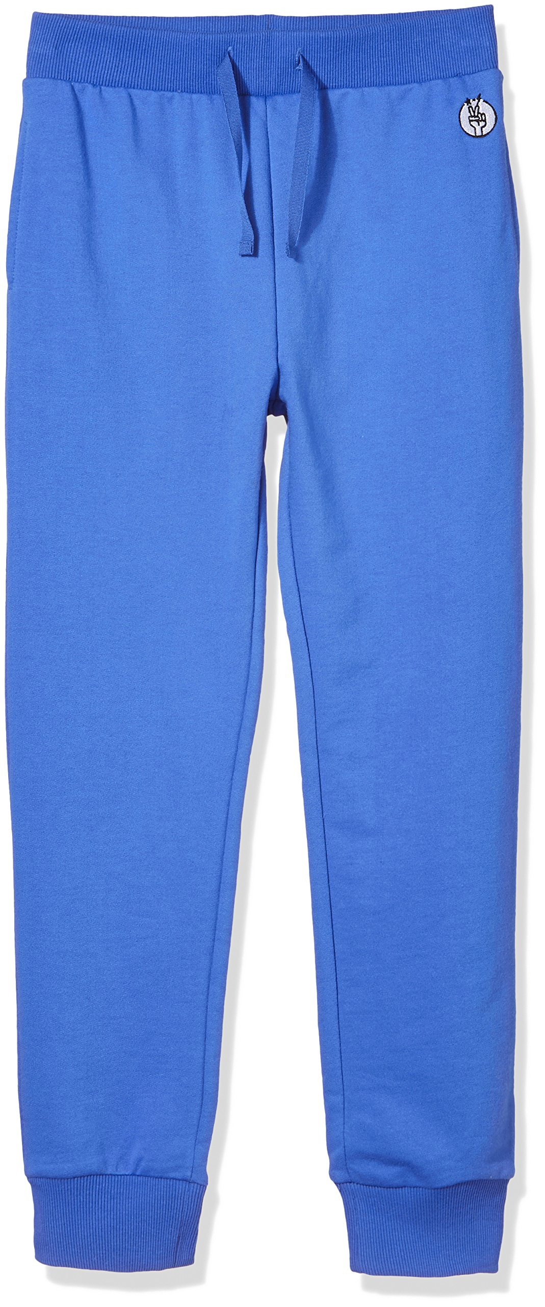 Kid Nation Kids' Solid French Terry Jogger for Boys Or Girls XL Gray Blue