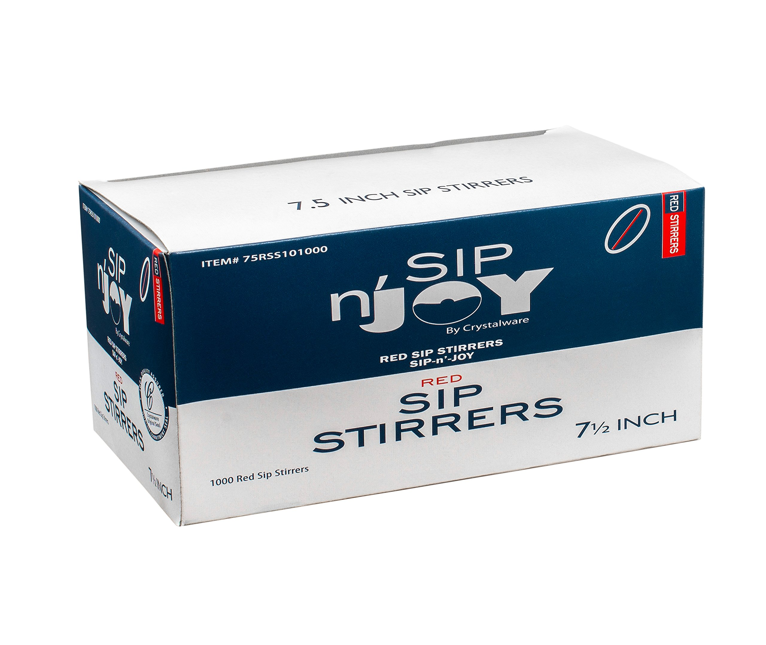 Crystalware Plastic Sip Stirrers, Cocktail and Coffee Stirrers, 7 1/2 Inch 1000/box, Red by Crystalware (Image #4)