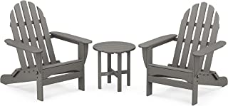 product image for POLYWOOD PWS214-1-SG Classic Adirondack Chair Seating Set in Slate Grey
