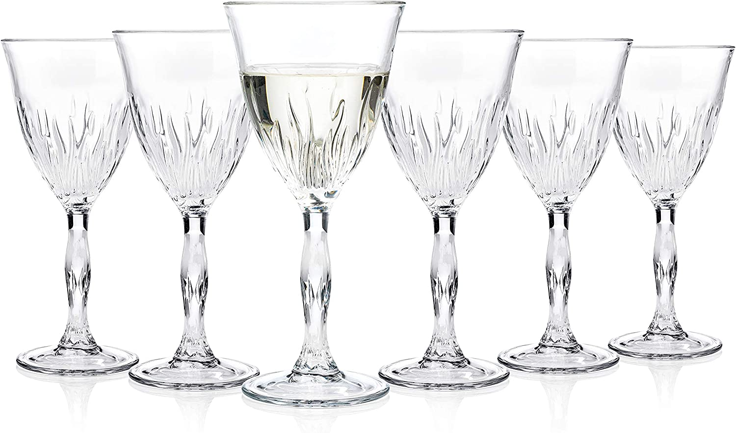 Rcr 24844020006 Fire Crystal Wine Glasses 200 Ml Set Of 6 Amazon Co Uk Kitchen Home