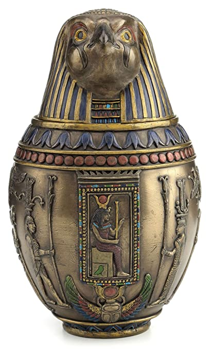 Amazon Egyptian Horus Canopic Jar Pet Burial Urn Falcon Home