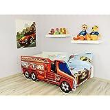 Moderne Lit d'Enfant Bébé Toddler avec matelas Voiture TRUCK(Fire Truck)