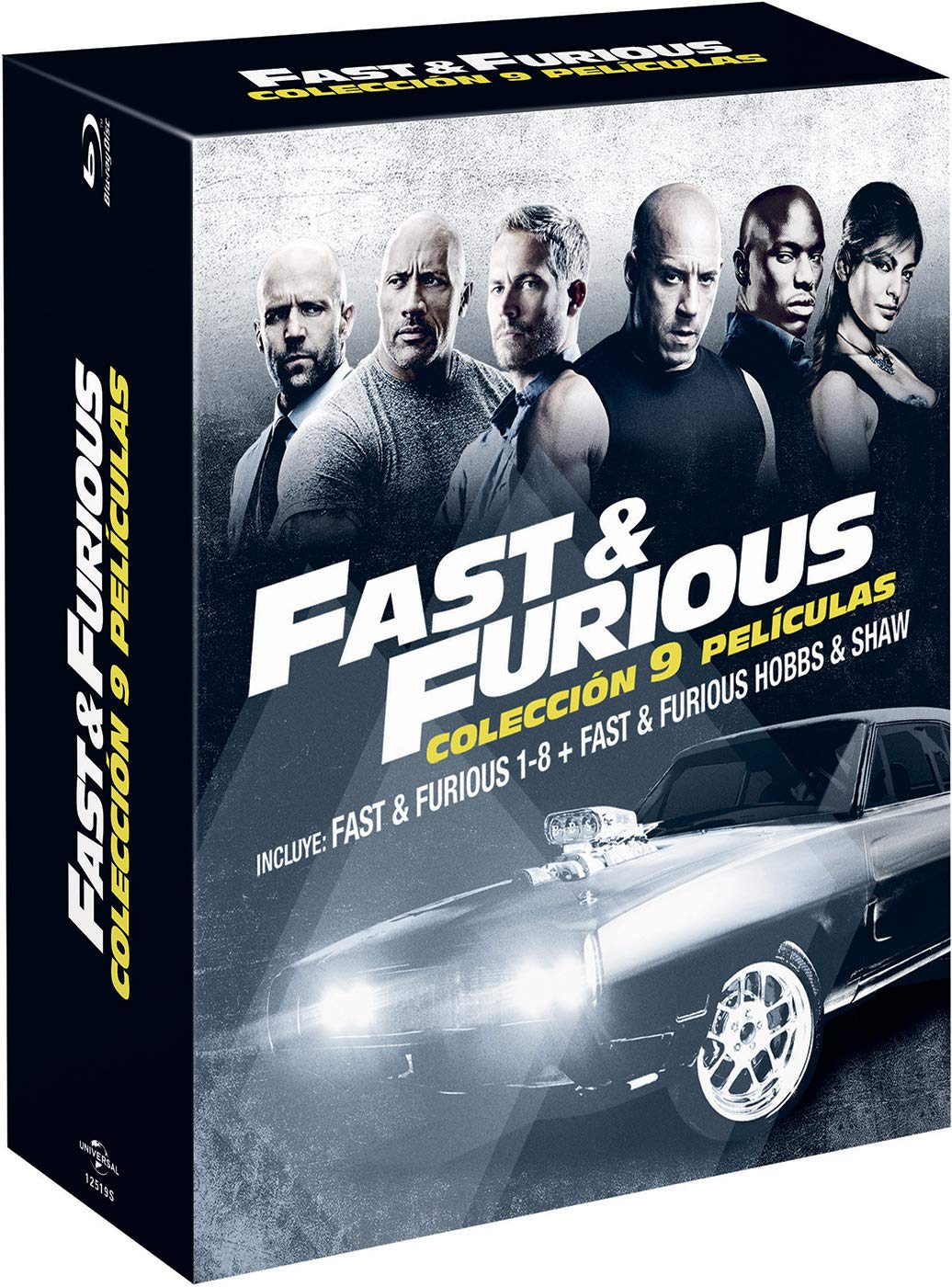 Pack: Fast & Furious 1-8 + Hobbs & Shaw BD Blu-ray: Amazon.es: Dwayne Johnson, Jason Statham, Vin Diesel, Paul Walker, David Leitch, James Wan, Justin Lin, Dwayne Johnson, Jason Statham, Chris Morgan