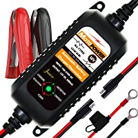 MOTOPOWER MP00205A 12V 800mA Fully Automatic Battery Charger/Maintainer for Cars, Motorcycles, ATVs, RVs, Powersports…