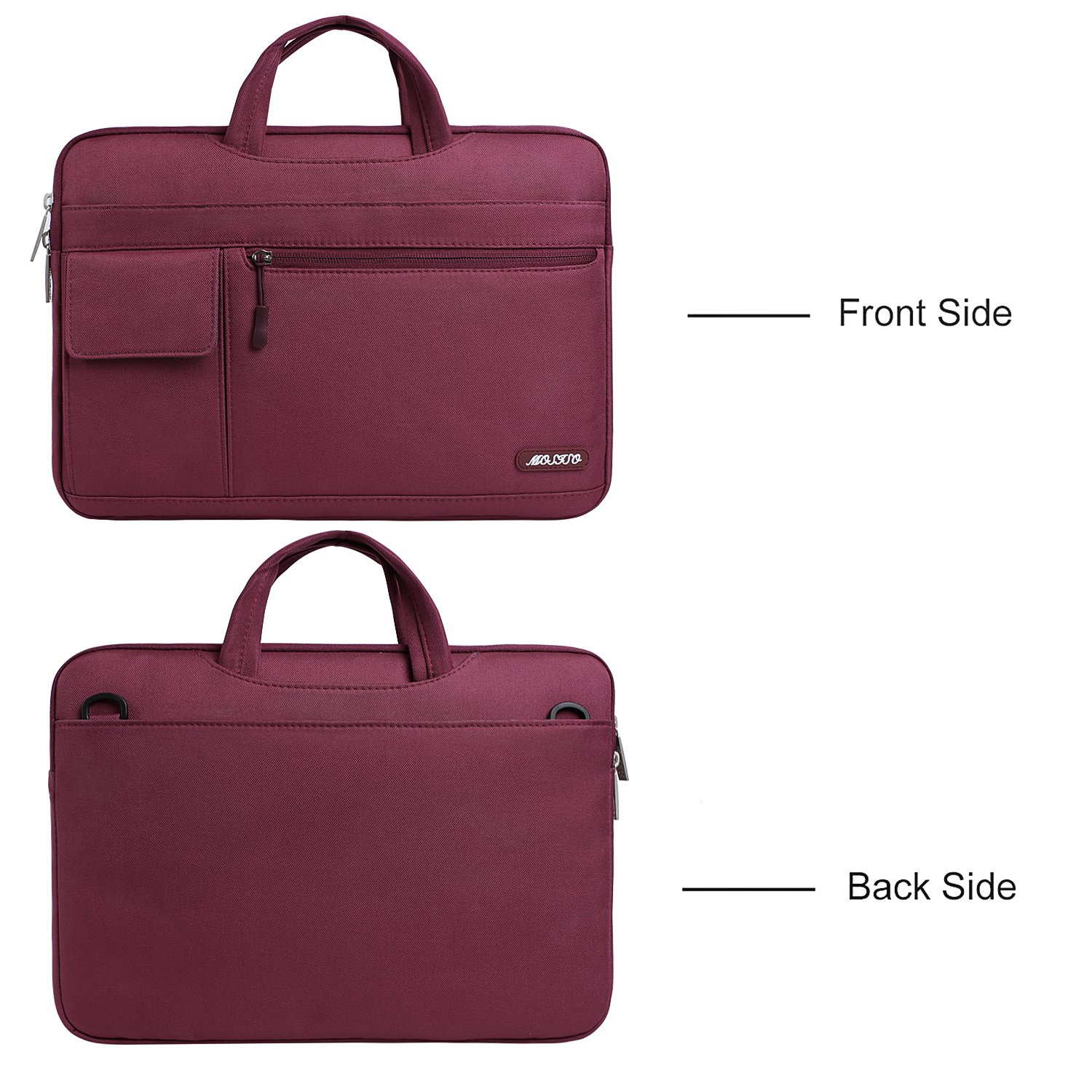 Polyester Flapover Messenger Case Cover Briefcase Notebook Computer Wine Red Mosiso Laptop Shoulder Bag Compatible 13-13.3 Inch MacBook Pro MacBook Air
