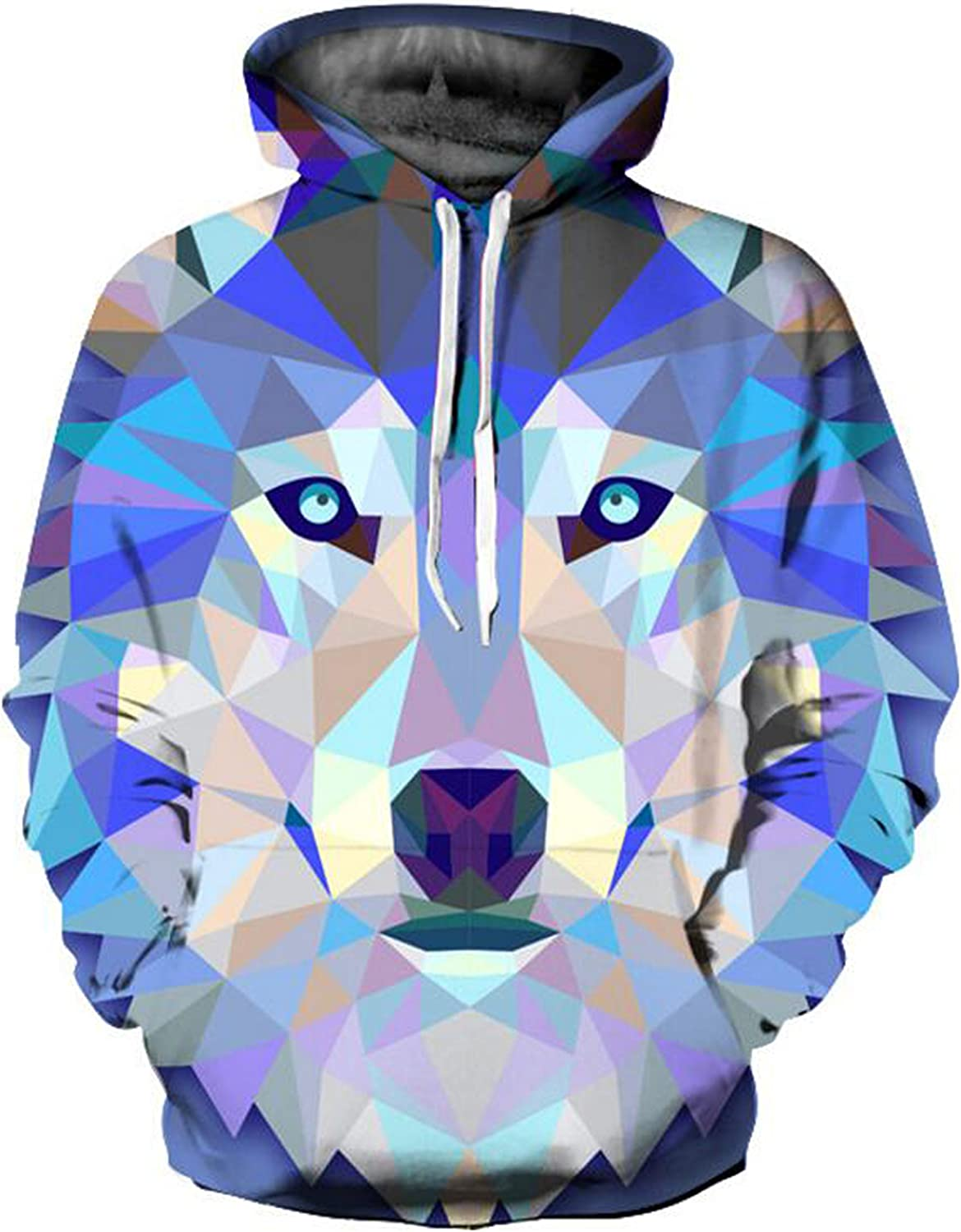 Sweatshirts for Men,Unisex Fashion 3D Digital Galaxy Pullover Hooded Hoodie Sweatshirt Athletic Casual with Pockets
