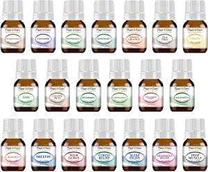 Essential Oil and Blends Set 20-5 ml. 100% Pure Therapeutic Grade for Aromatherapy Diffuser, Skin, Body, Hair. Perfect for DYI Crafts, Soap, Lotion, Cream, Lip Balm and Candle Making.