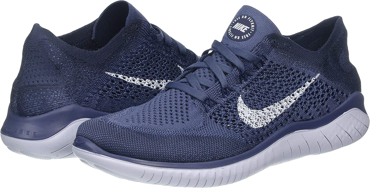 Nike Free RN Flyknit 2018, Zapatillas de Running para Hombre, Multicolor (Diffused Blue/Football Grey/Thunder Blue 404), 44.5 EU: Amazon.es: Zapatos y complementos