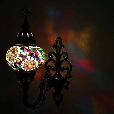 Murale Lavage Lumière Turque Mosaïque Applique Lampe Transparent