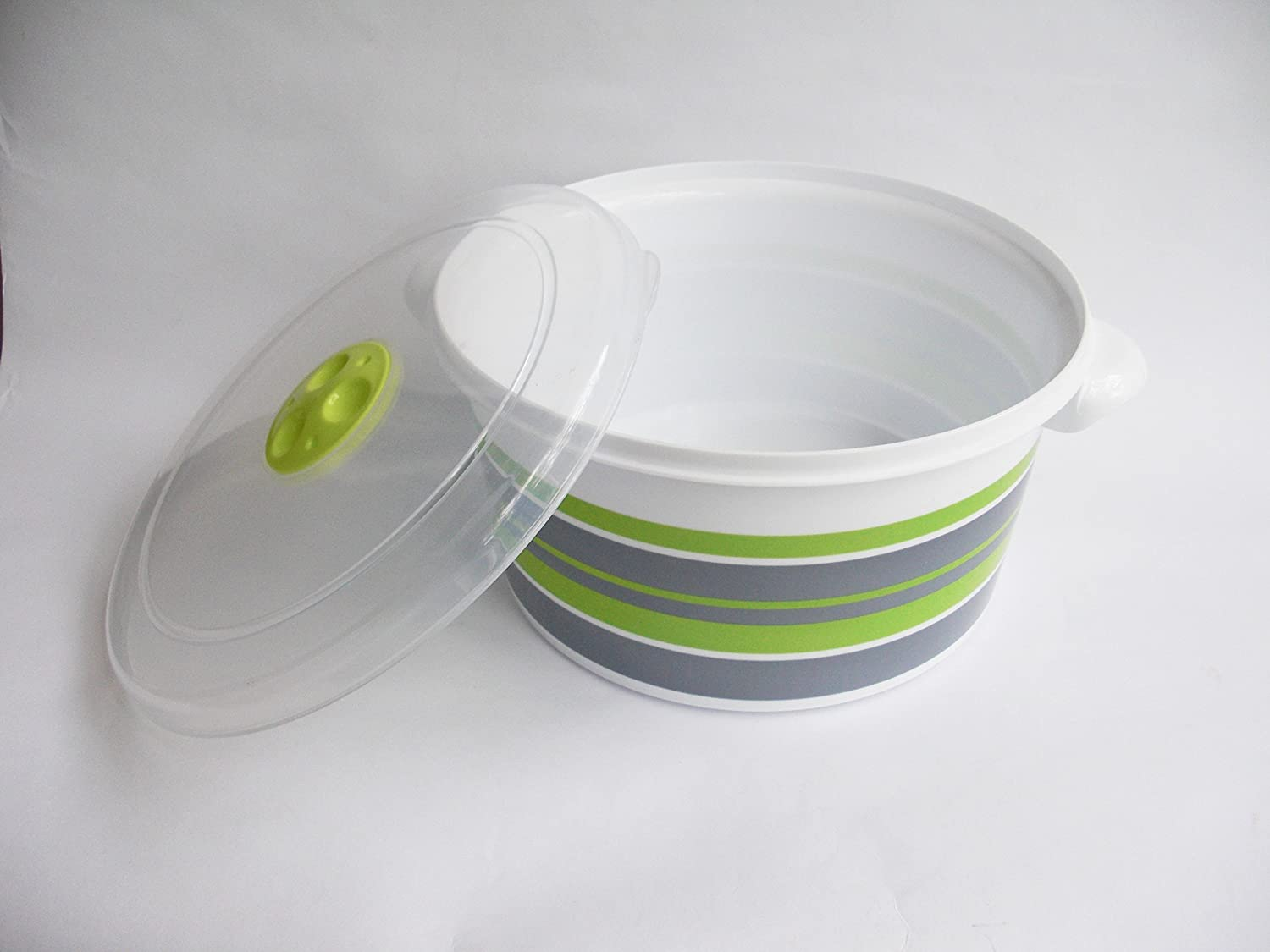4 Sizes Set Heating Cooking Steamer Pot Tredoni 1L Microwave Pot Tub with Ventilated Lid 1 Liter