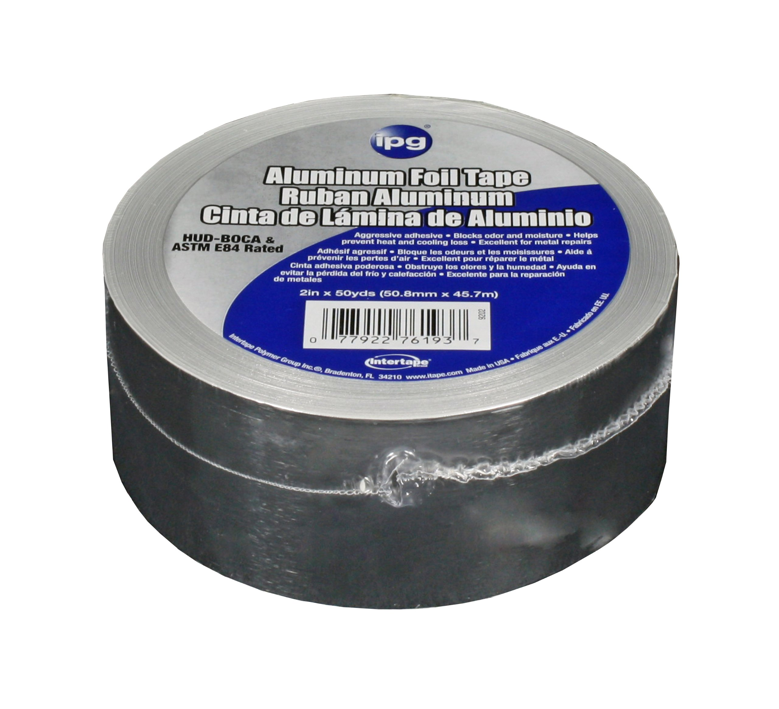 Intertape Polymer Group 99605 Aluminum Foil Tape, 2-Inch x 50-Yard