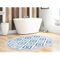 Dekoreko Oval Banyo Paspası Y01 Gri 60x100 cm