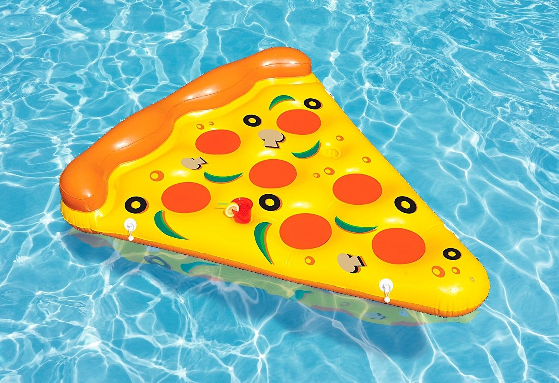 New Plast, 0897 - Colchón Hinchable, Forma de Pizza, Dimensiones 180 x 150 cm: Amazon.es: Deportes y aire libre