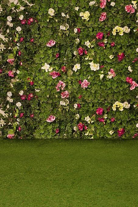 huayi 200x300cm weeding flower wall floral backdrop green grass