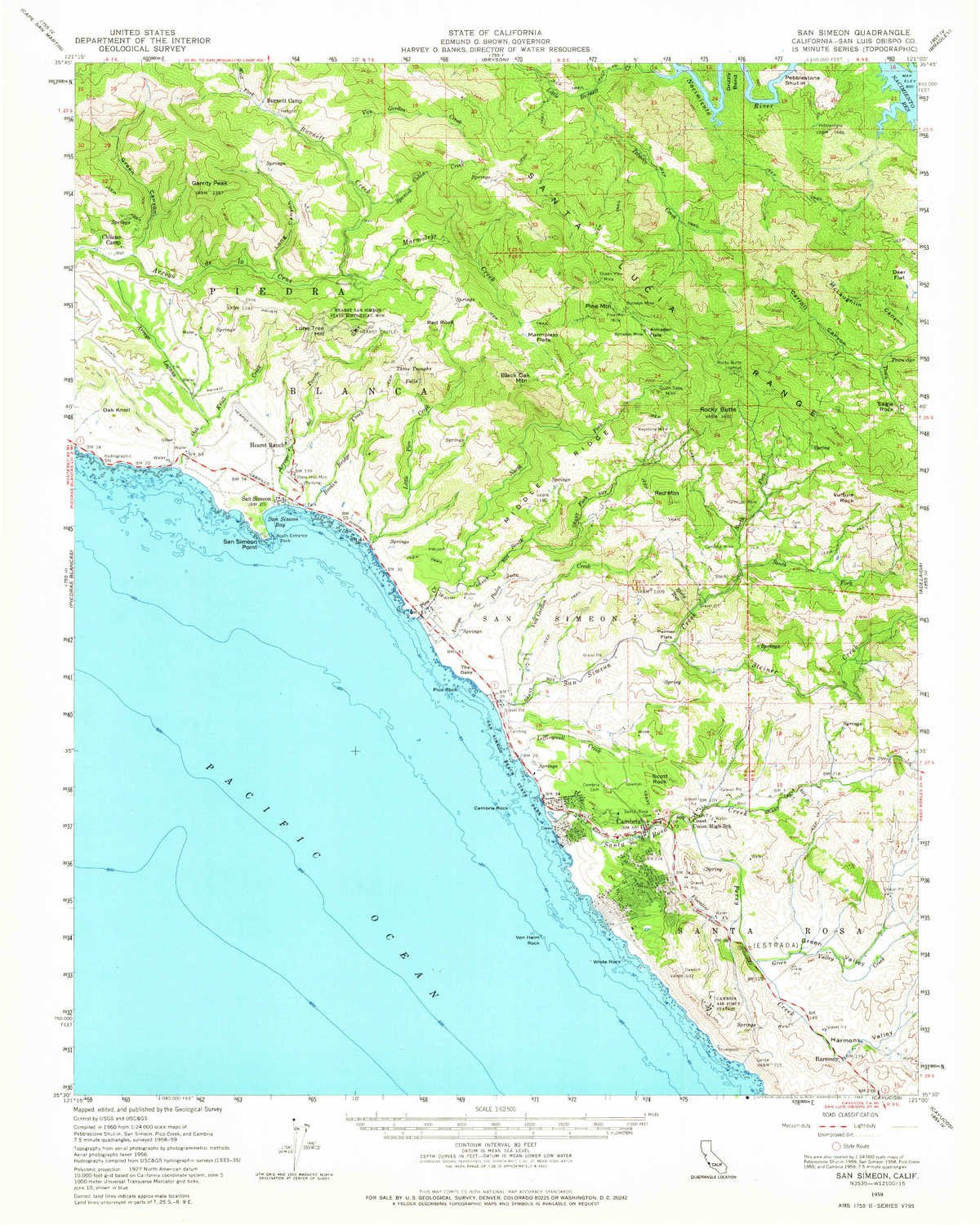 Amazon.com: YellowMaps San Simeon CA topo map, 1:62500 Scale ... on south el monte map, pismo beach map, moonstone beach map, yorba linda map, morro bay state park map, hearst castle map, pico rivera map, santa cruz map, van nuys map, hearst mansion map, casmalia map, carmel bay map, santa susana pass map, cayucos map, gorda map, lake san antonio map, yosemite national park map, mission san luis obispo map, turlock map,