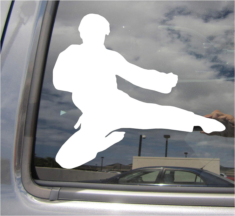 I Love Karate Car Window Sticker Martial Arts Clear Sticker