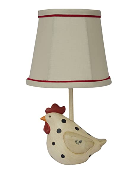 Ahs Lighting Big Fat Hen Polka Dot Table Lamp Beige Black Red Gold