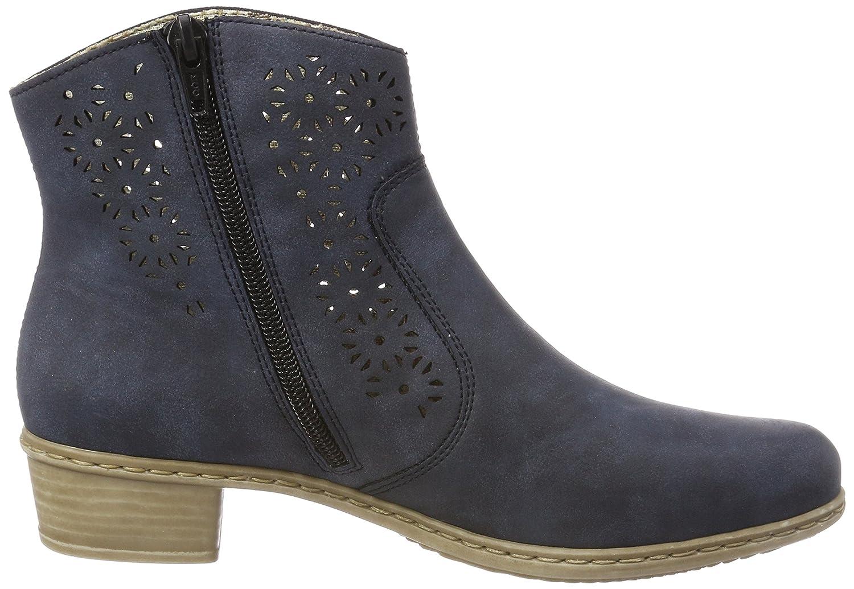 Rieker Damen Y0775 Stiefel, Blau (Atlantis), 36 EU