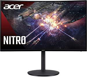 "Acer Nitro XZ320Q Xbmiiphx 31.5"" 1500R Curved Full HD (1920 x 1080) VA Zero-Frame Gaming Monitor with Adaptive-Sync Technology, 240Hz Refresh Rate, 1ms VRB, (Display Port & 2 x HDMI Ports)"