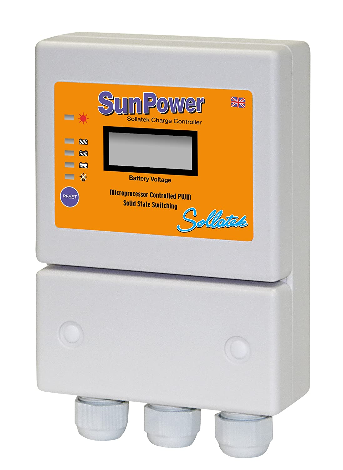 sollatek sunpower30 – 24, 30 Amps 24 V regulateru Traglasten von Akku mit LCD-Display