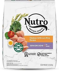 NUTRO Natural Choice Senior Dry Dog Food, Chicken & Brown Rice Recipe Dog Kibble, 13 lb. Bag