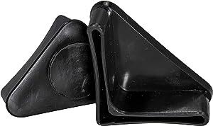 Prescott Plastics 1 1/4 Inch Angle Iron Plastic End Caps L Shaped Chair Glides (10)