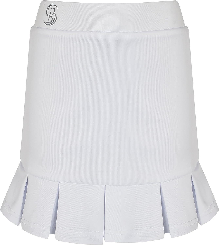 Bace Chicas Plisada Blanca Falda de Tenis/Skorts: Amazon.es ...
