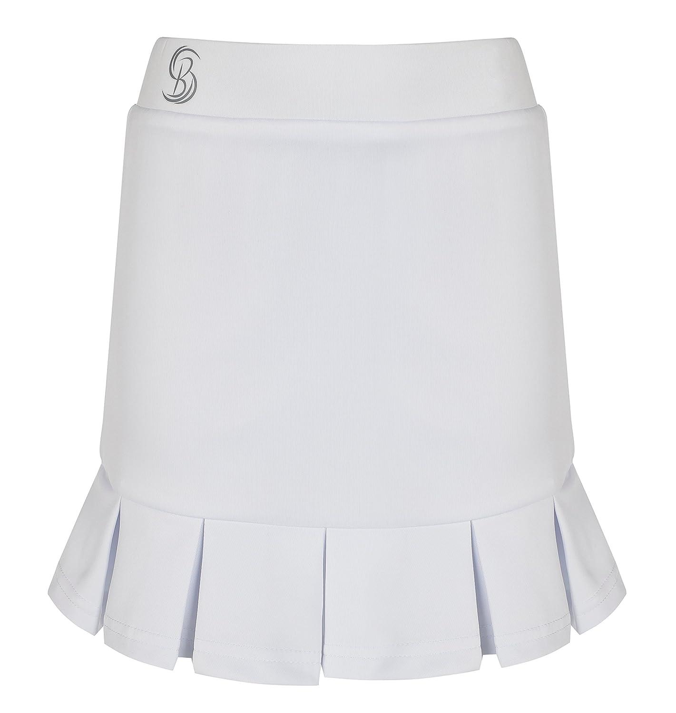 Desconocido Chicas Plisada Blanca Falda de Tenis/Skorts: Amazon.es ...