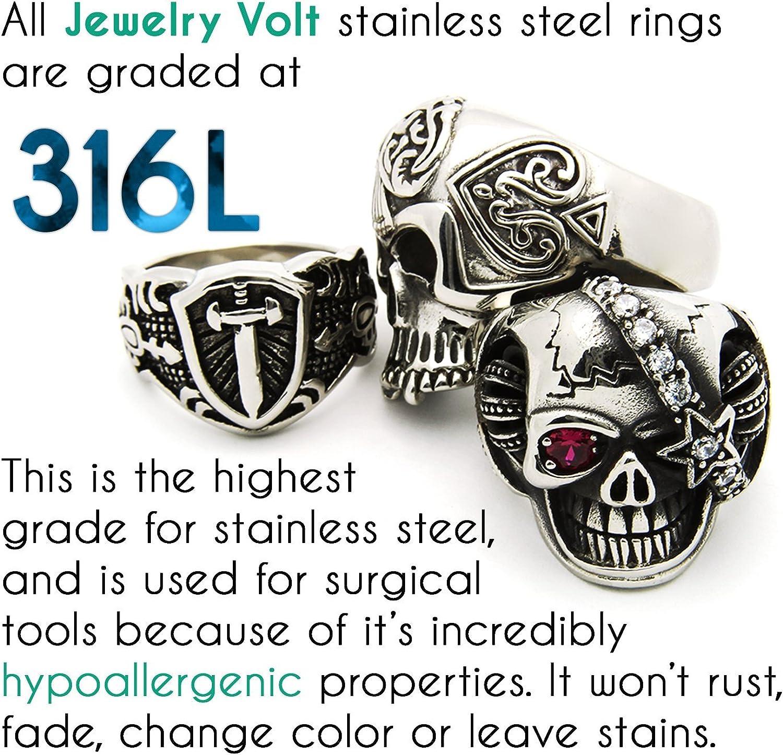 JewelryVolt Stainless Steel Ring Cross Spinner