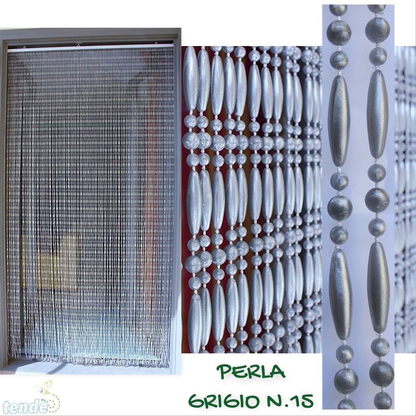 Made in Italy Modello Perla Misure Stardard 8-9 80X200 // 90X200 // 95X200 // 100X220 // 120X230 // 130X240 // 150X250 80X200, AVORIO E MARRONE Moschiera//Tenda in PVC