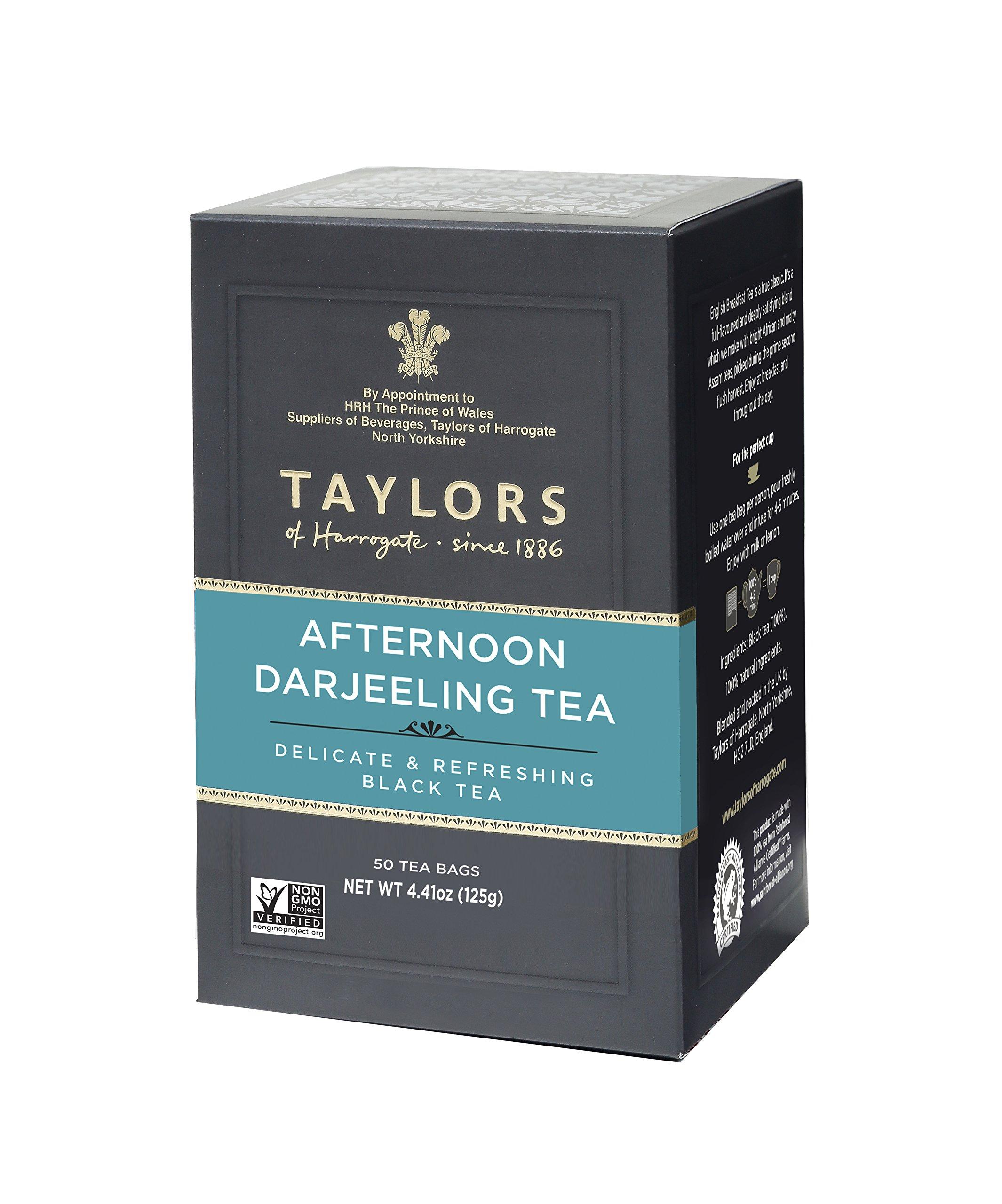 Taylors of Harrogate Afternoon Darjeeling, 50 Teabags (Pack of 6)