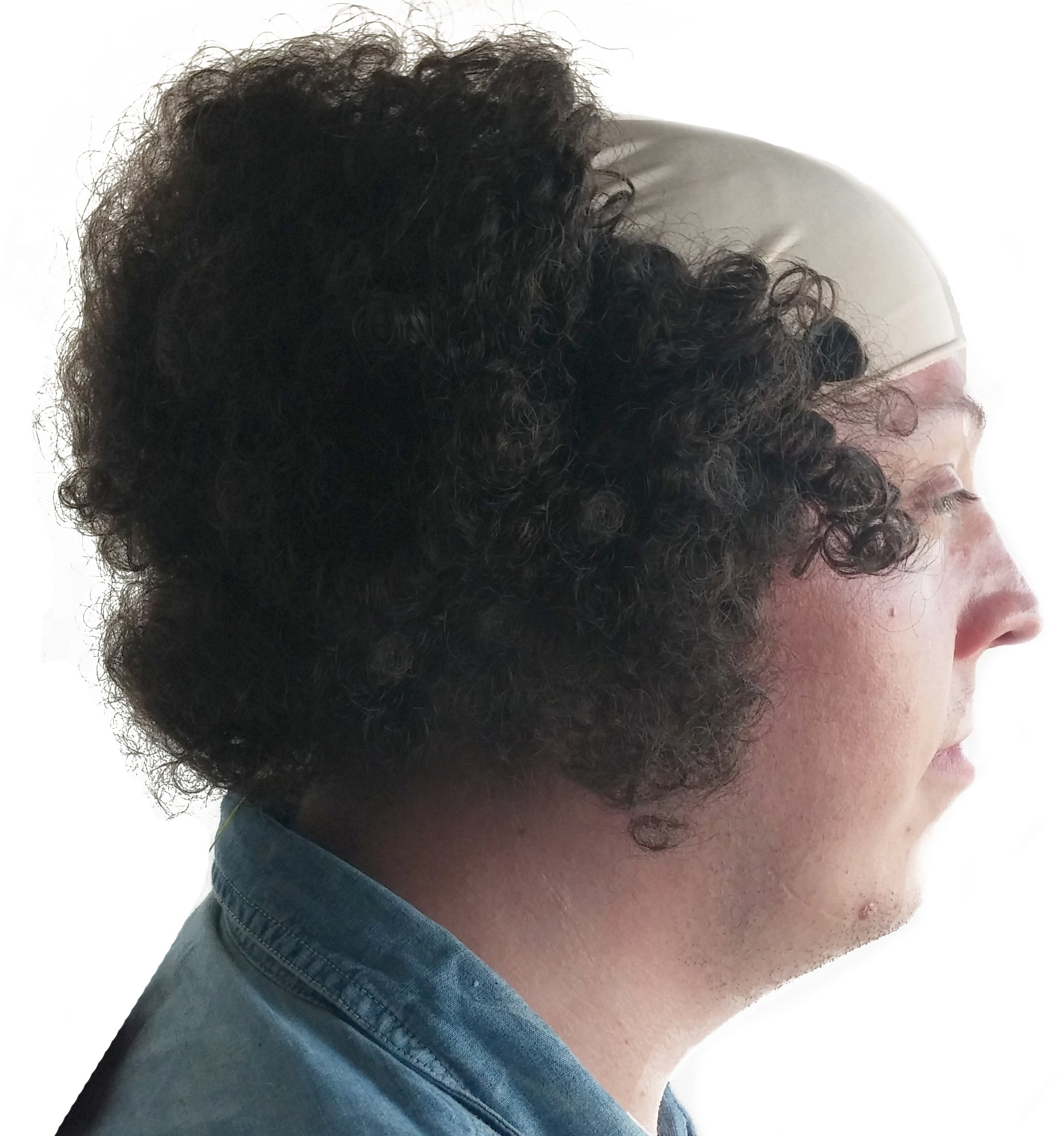 Larry Three Stooges Wig Bald Curly Brown Wig for Men by City Costume Wigs (Image #2)