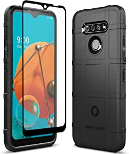 Sucnakp LG K51 Case LG Reflect Case LG Q51 Case with Screen Protector Heavy Duty Shock Absorption Phone Cases Impact Resistant Protective Cover for LG K51(New Black)